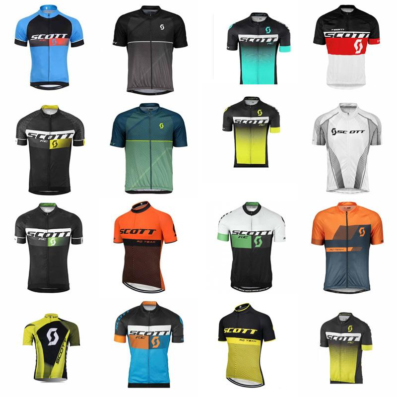 SCOTT team Cycling Short Sleeves jersey Bicycle maillot breathable Ropa Ciclismo MTB Short sleeve for men B612-16
