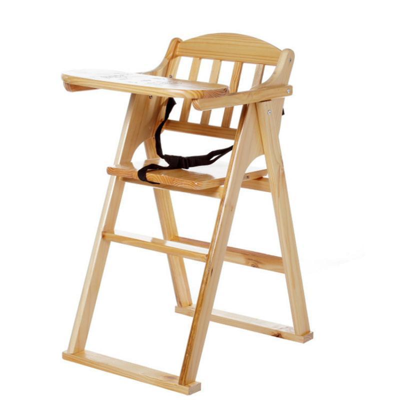 Pratik çocuk yemek Sandalyesi basit ahşap ev katlanabilir bebek dışkı restoran çok fonksiyonlu damla direnci bebek Sandalyesi