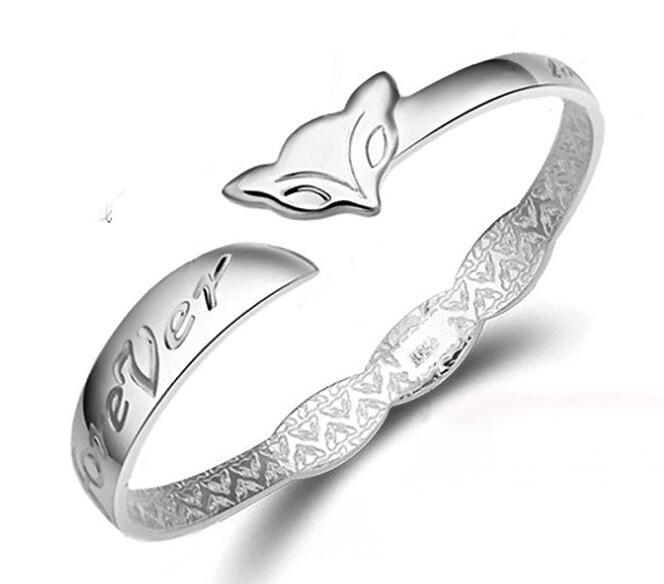 Fashion 925 Sterling Silver Plated Bangle Bracelet Open Design Vintage Jewelry Gift Bracelets for Party Wholesale Price