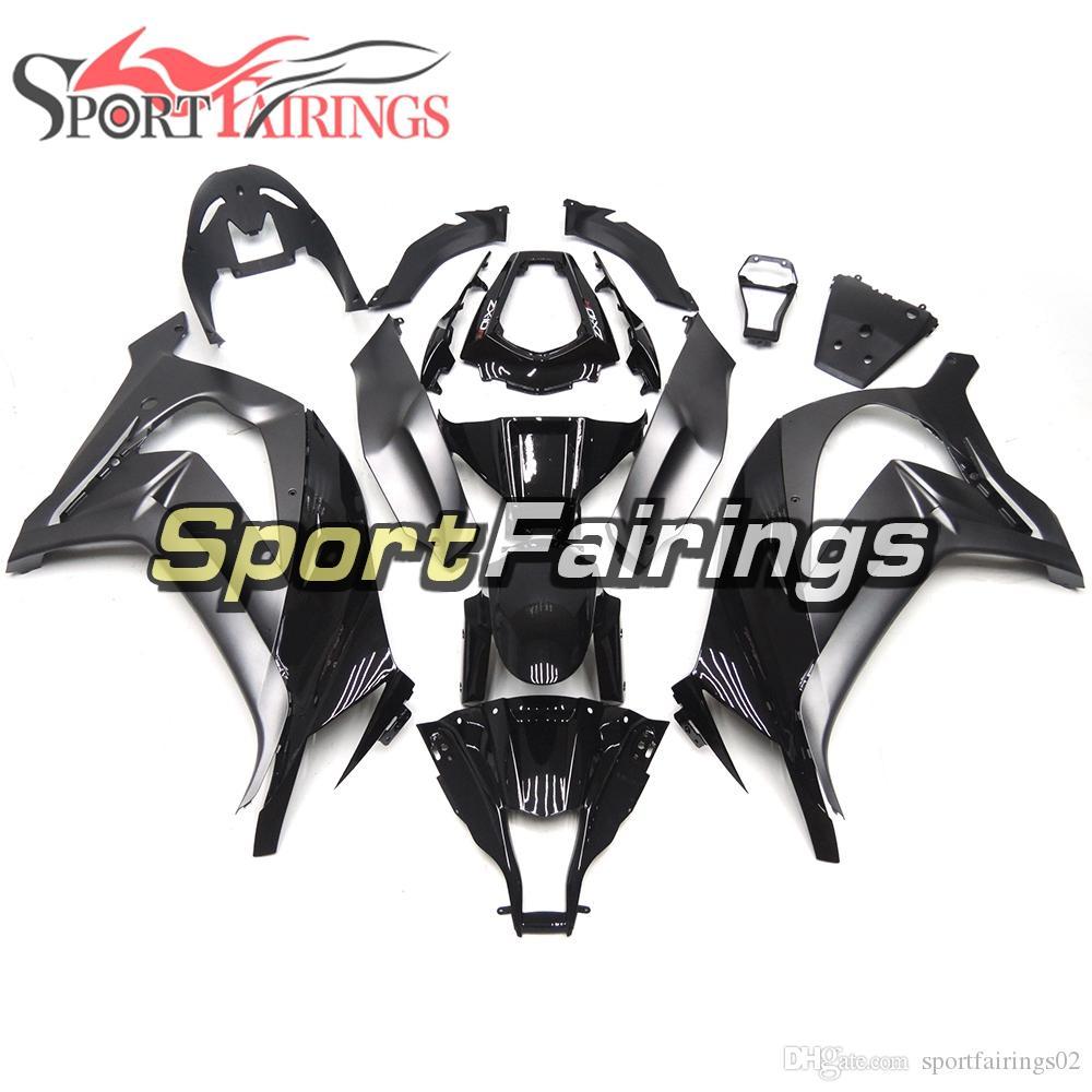 Llena de carenados para Kawasaki ZX10R 2011-2015 11 12 13 14 15 Negro de plata de inyección de plástico ABS de motos Carrocería Las capuchas cuerpo del kit de Marcos