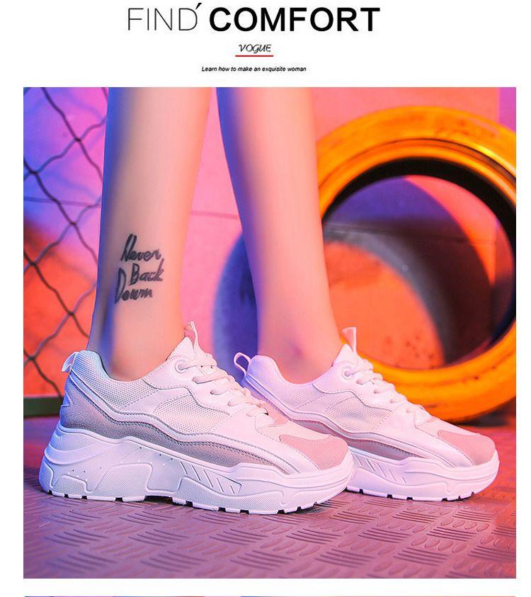 Scarpe 2019 Scarpe moda Tenis Feminino papà e spesso plateau Sneakers maglia respirabile Donna Casual Scarpe Donna Sneaker