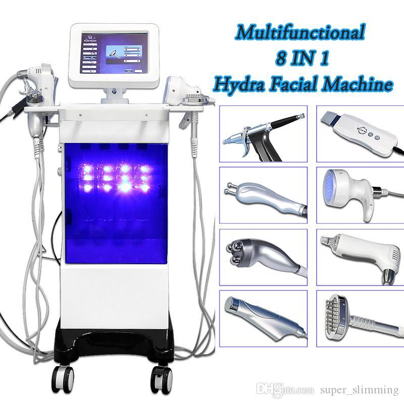Hydrafacial para la venta máquina facial ultrasónica dermoabrasión máquina facial de alta frecuencia salón spa cuidado de la piel limpieza facial