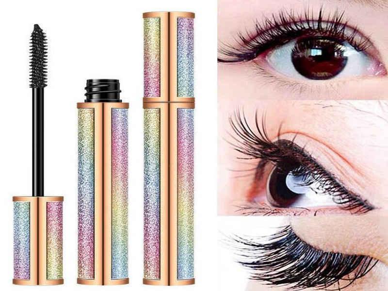 10 ml Regenbogen Kunststoff DIY Leere Mascara Tubes mit dünner Wimper-Bürsten-Behälter Flasche Phiolen Schnelle Lieferung