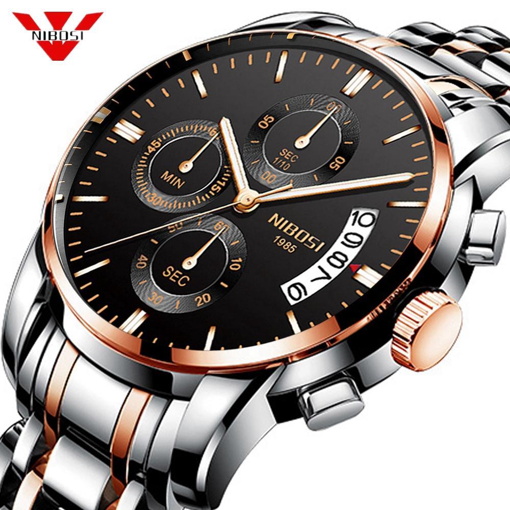 NIBOSI 2019 Nuevo reloj de los militares del deporte del cuarzo del reloj para hombre relojes de primeras marcas de lujo a prueba de agua reloj de pulsera Relogio Masculino