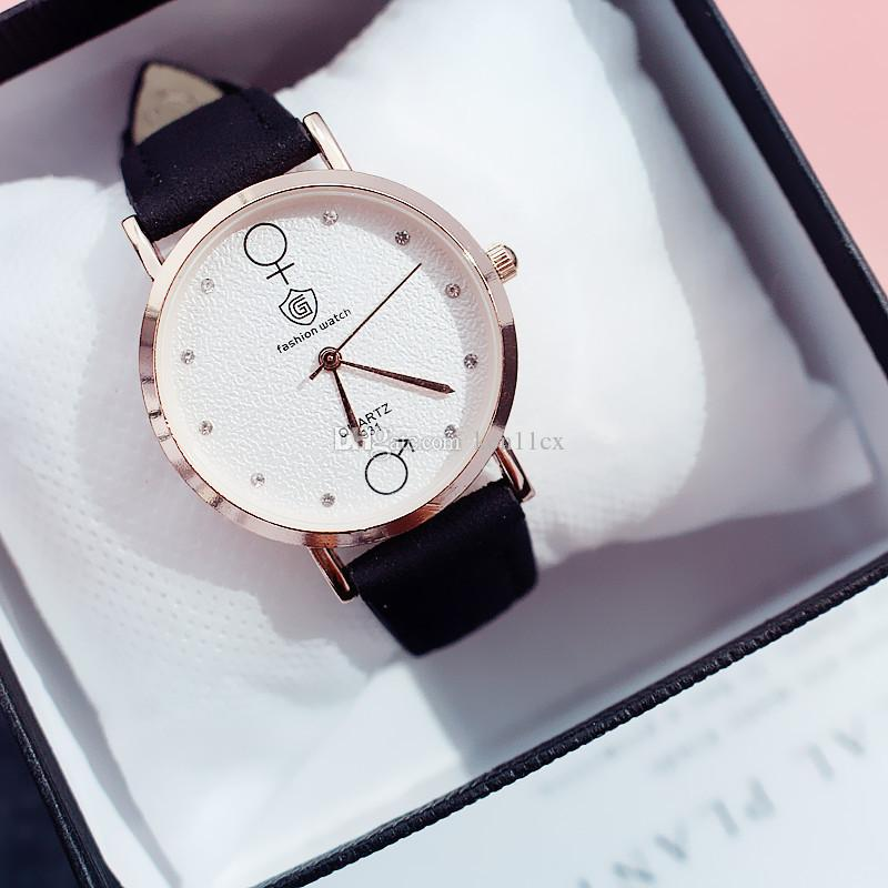 New Simple Fashion Women Quartz Wristwatch Crystal Design Leather Watchband Casual Watches Student Sports Watch Best Gift First Wrist Watch Digital Wrist Watches From Ken11cx 2 07 Dhgate Com