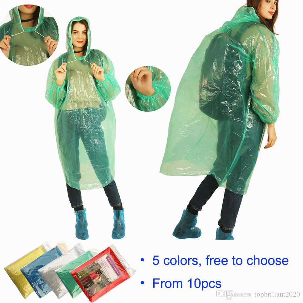 Useful Disposable Emergency Raincoat Camping Hood Poncho Travel Hiking Camping