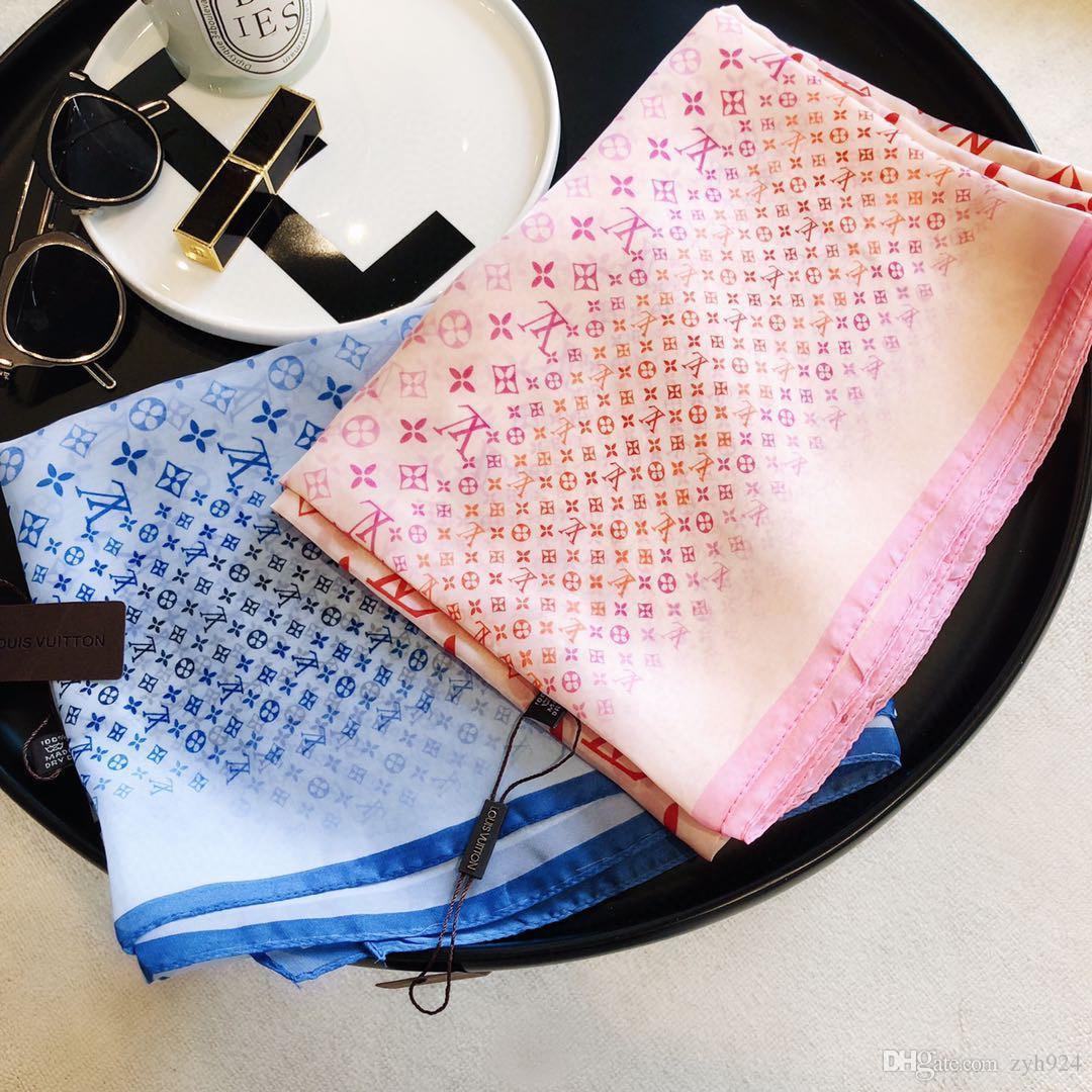 Оптовой Brand шарфа высокого качества 100% шелк бренд женщины носят шарфы дизайнера роскошного летней длинного шарфа этикетка 180x90Cm шаль