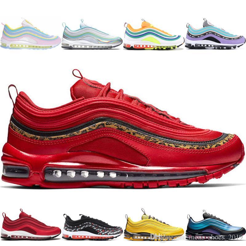 Roter Leopard-Turnschuh der heißen Verkaufs-Mens-Frauen beschuht OG-Regenbogen-Rosa-Laser-Fuchsie schillerndes nd Raumpurpur LONDON-laufende Sport-Trainer-Schuhe
