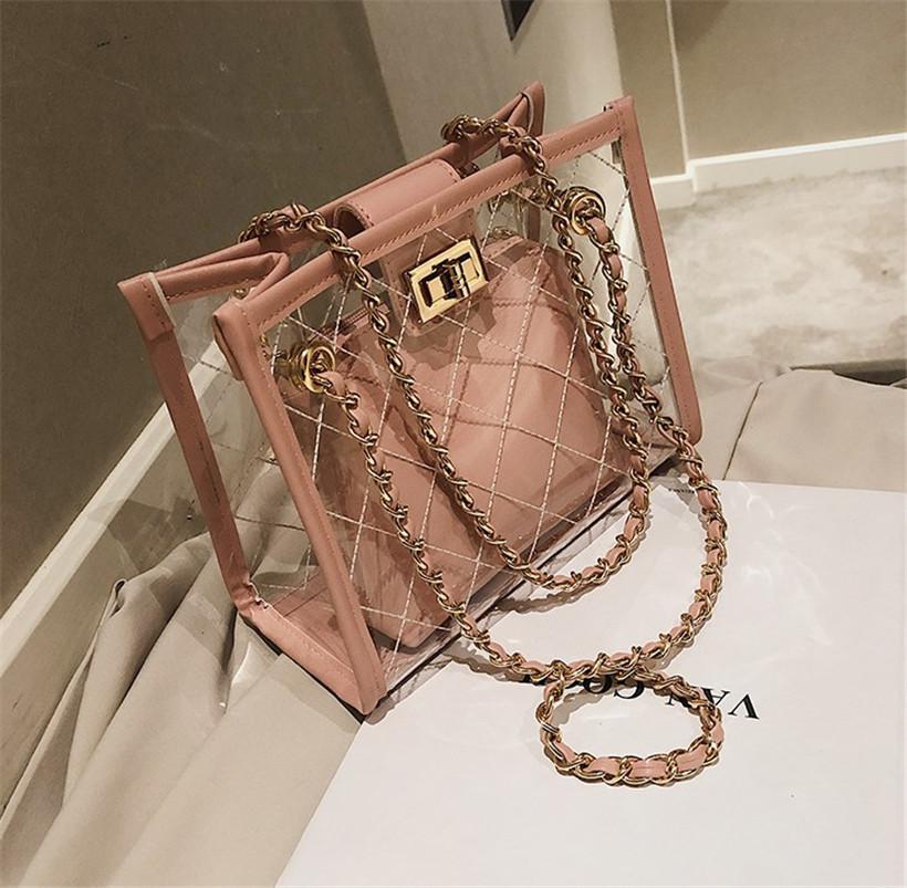 Hot di lusso del progettista della borsa della spalla di alta qualità Tote Bag Casual trasparente Shopping Bag PH-CFY20051837