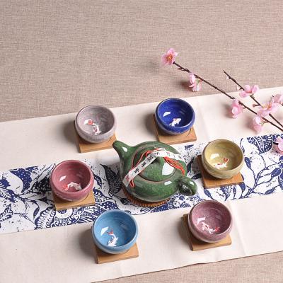 2019 7 pieces/set Kung fu tea set Ceramic Tea cup chinese travel set Coffee cups tea