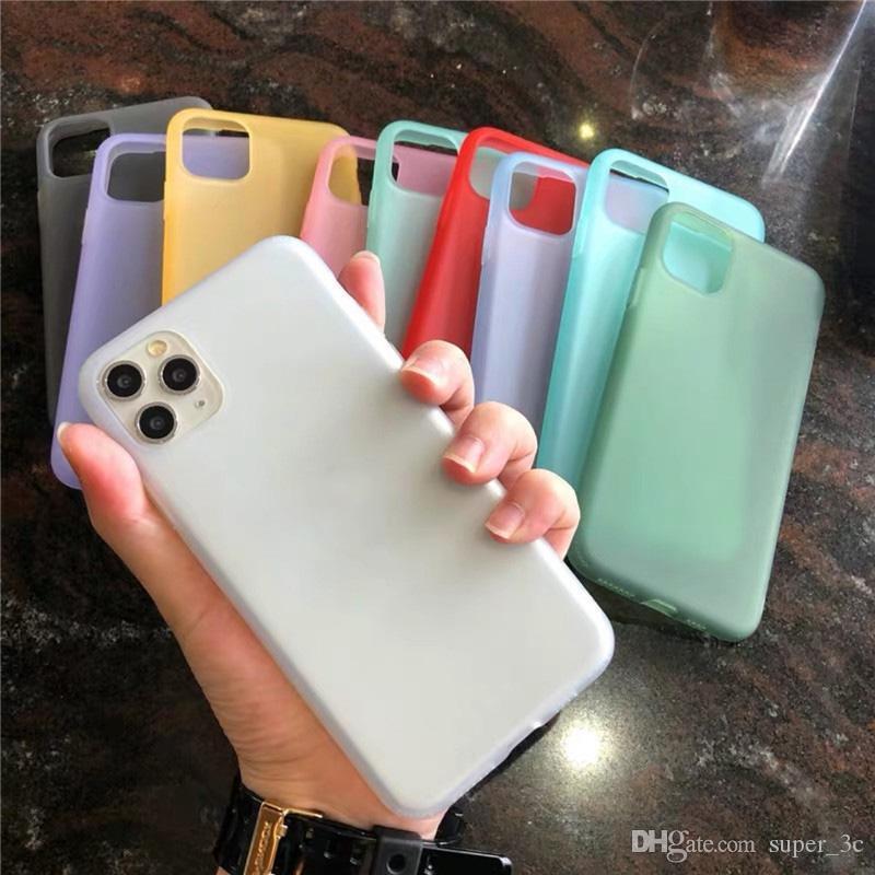 Líquido Emulsión de silicona suave mate teléfono caso del iPhone para el 11 Pro máx x xr x 8 7 original transparente cubierta de la caja de Shell
