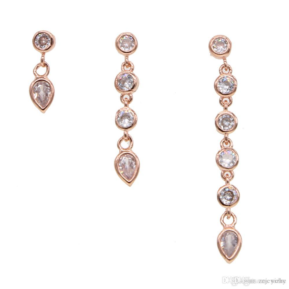 Süße 925 Sterling Silber Ohrringe Zirkonia Kristall NEU Mehr im Shop +