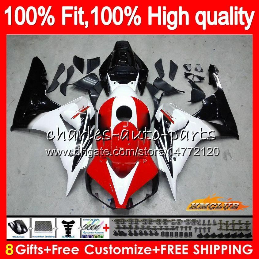 Injection red white hot OEM For HONDA CBR 1000CC 1000 RR 06 07 Body 78HC.14 CBR1000 RR CBR 1000RR CBR1000RR 06 07 2006 2007 100%Fit Fairing