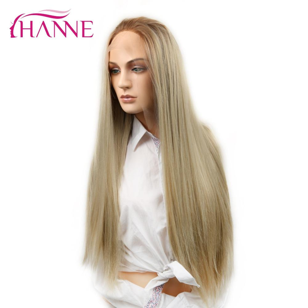 Swiss Halloween 2020 2020 Hanne Swiss Lace Front Wig Long Straight Ash Blonde Ombre
