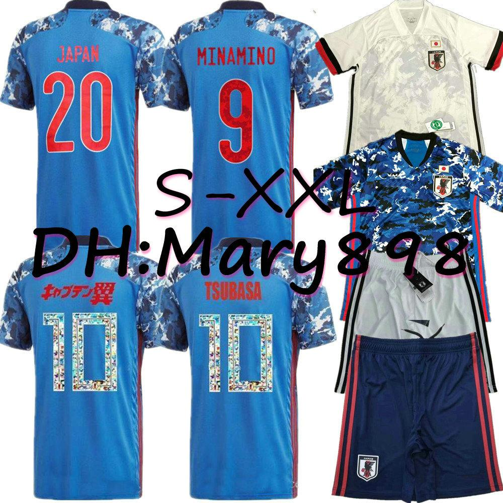 Hot Japan soccer jersey cartoon number fonts 10 Player version Jersey 2020 2021 Thailand top quality 19 20 soccer uniform tracksuit S - XXL
