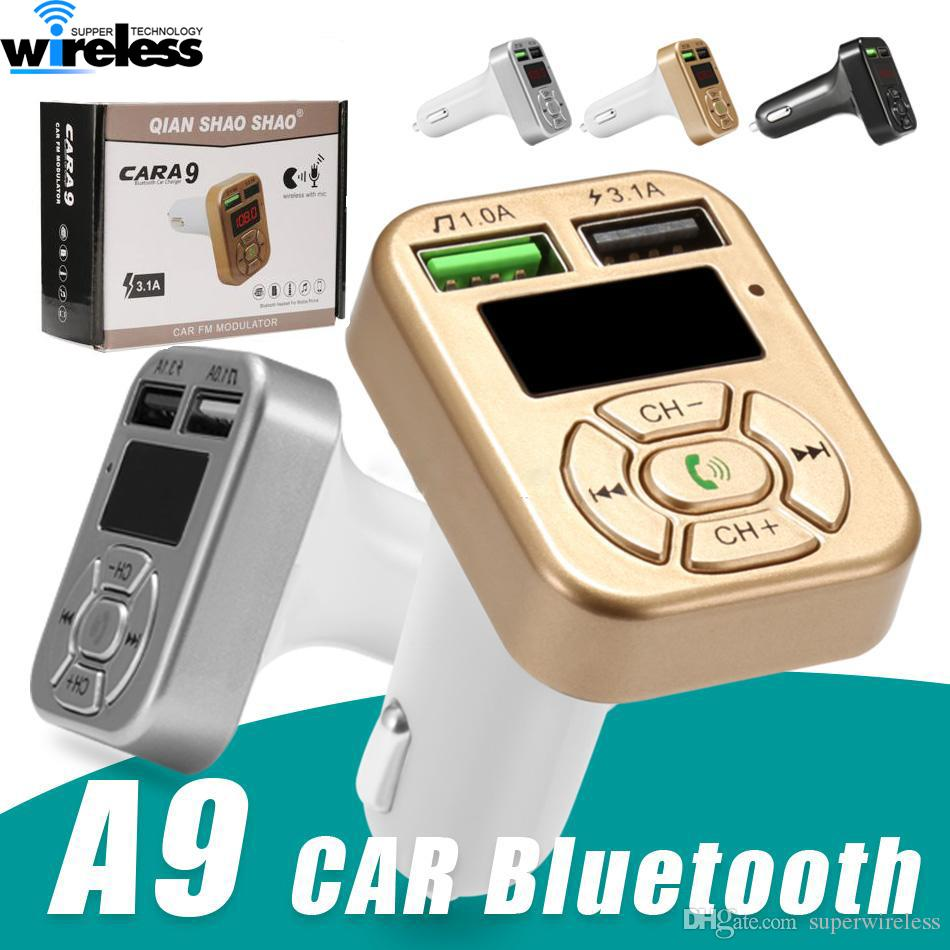 Car Kit Hands free Wireless Bluetooth FM Transmitter LCD MP3 Player USB Charger