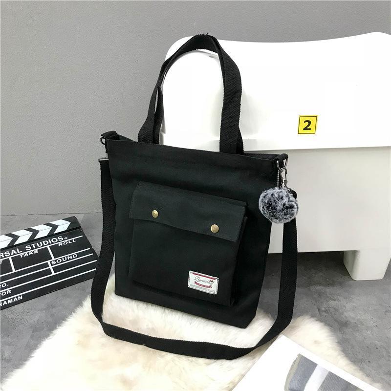 sacchetti del messaggero 2019 nuova ondata di studentessa letteraria semplice coreano borsa di tela spalla portatile selvaggio ad alta capacità