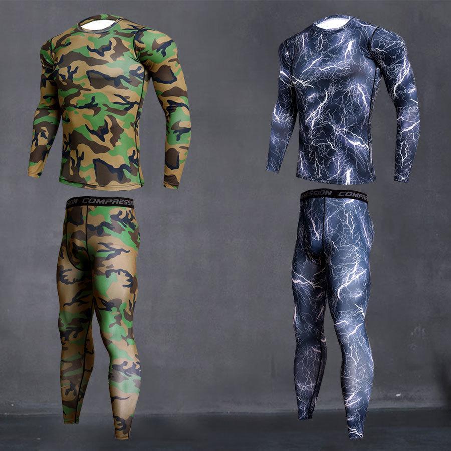 S-4XL Top quality new thermal underwear uomo underwear set di compressione in pile sudore asciugatura rapida Thermo underwear Abbigliamento Uomo t200415