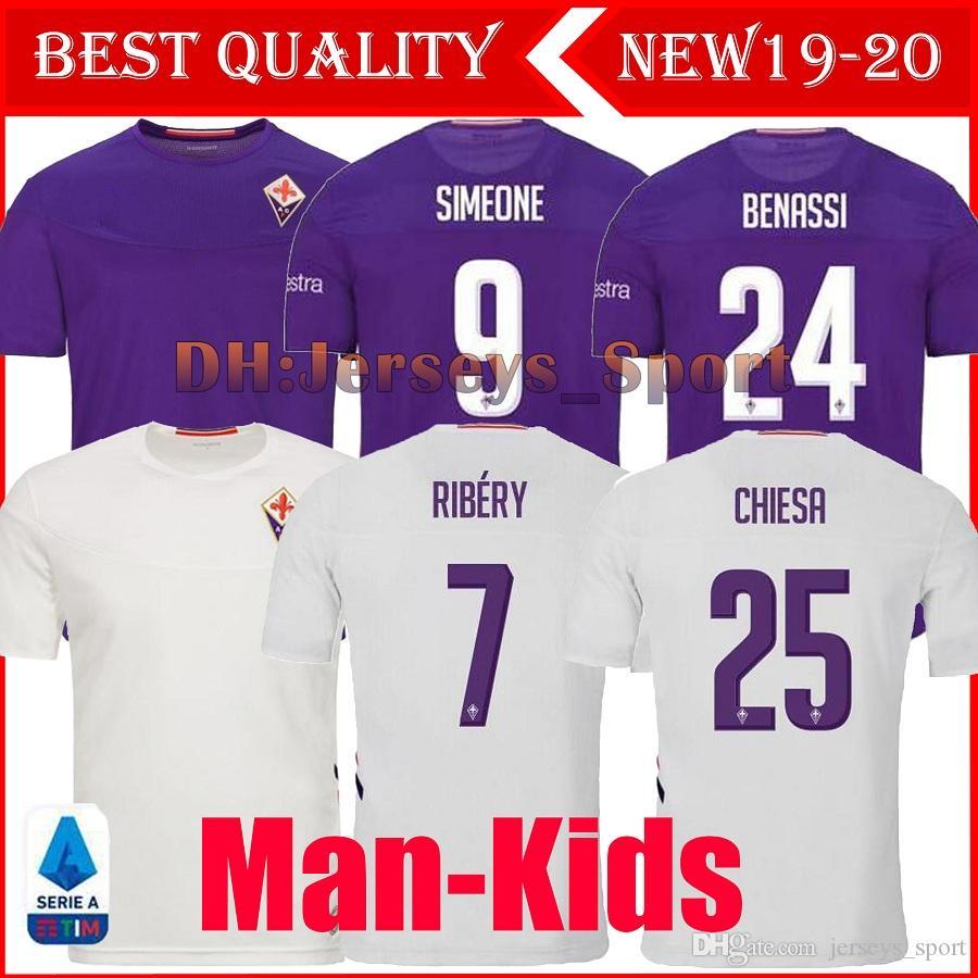 2019 20 Nuovo ACF Fiorentina Firenze calcio maglia maglia da calcio RIBERY Chiesa Prince Boateng Camiseta de futbol Milenkovic maillot de foot