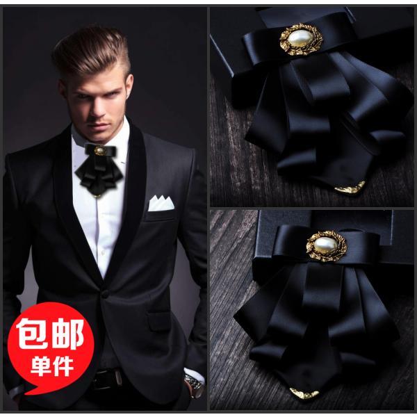 moda rahat gelin Bow bağları için erkek erkek altın boynuz papyon damat Groomsmen çoklu DÜĞÜN papyon iş takım elbise Headdress