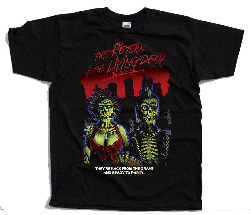 The Return Of The Living Dead V3 Poster 1985 T Shirt Black All Sizes S 4xl 100% Cotton Fashion T-shirts