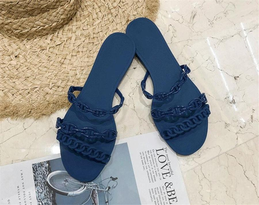 2020 Classic Women Wedge Slippers With Leather , Latest High Heels Wedge Shoes Womens Slippers Complete With High-End Packaging#464