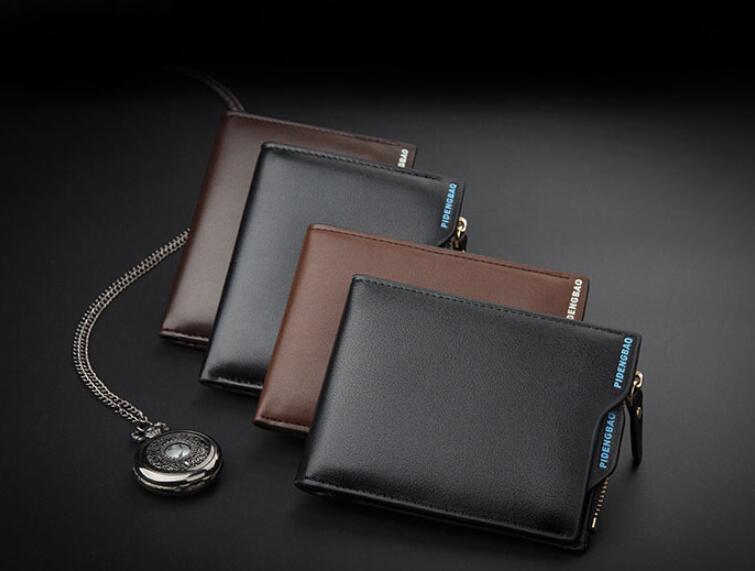 2019 marke Vintage Leder Haspe Kleine Brieftasche Geldbörse Kartenhalter Männer Geldbörsen Geld Cartera Hombre Tasche Männliche Clutch
