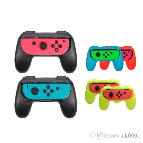 Left+Right Joycon Bracket Holder Handle Hand Grip Case for Nintend Switch NS Joy-Con Controller Gamepad HandGrip Stand Support uk0001