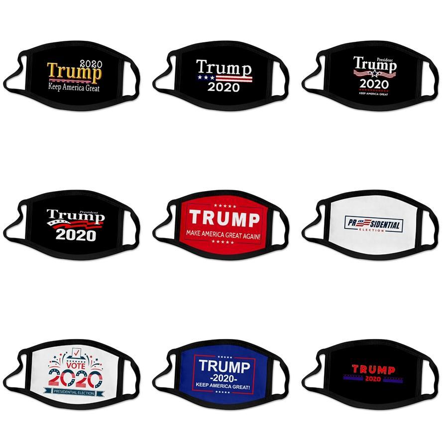 Máscara de respiração Válvula rosto máscaras de protecção Máscaras de algodão ajustáveis Máscara lavável reutilizável Boca Máscaras Designer Trump Máscara Cca12 # 629