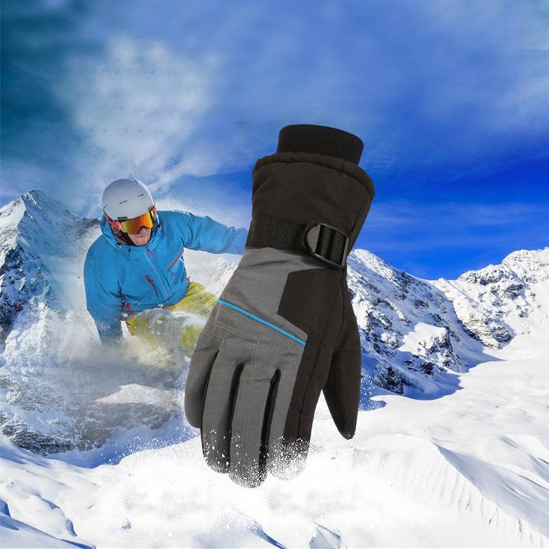 Лыжные перчатки Мужчины Подогреваемые лыжи перчатки Зимние виды перчатки Мотоцикл спорт Теплый водонепроницаемый Тепловое Кемпинг снег тепло перчатки