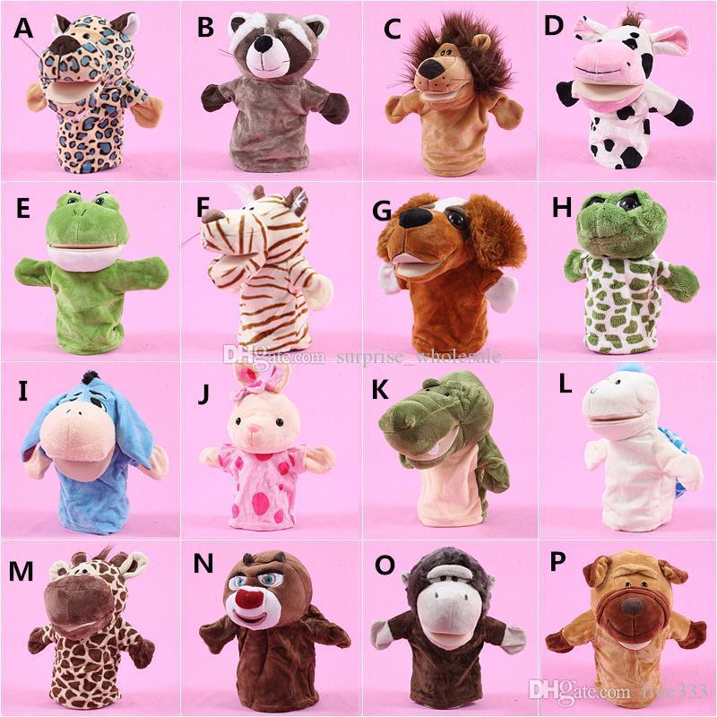 Plush Animals 10 Inch Stuffed Plush Toys Lion Elephant Panda Cow Animals Big Eyes fficial Soft Stuffed Dolls For Kids Gift