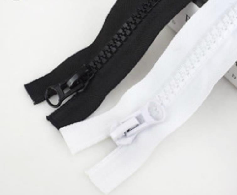 A9105 Meetee 8 # Résine Zipper Noir Blanc Double Sliders Down Veste Manteau Tente Auvent Open End Sac À Fermeture Éclair sac Accessoires fermetures à glissière à coudre