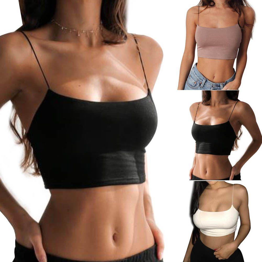 Mulheres verão Sexy Camisole Backless Colheita Bra Top Colete Bralette Com Tiras Tops GDD99