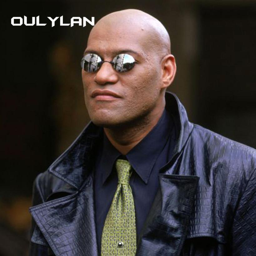 Oulylan Matrix Morpheus rotonda Rimless Occhiali da sole Uomini morsetto Classic Naso Occhiali da Sole Mens Mini senza telaio Brand Design Glasses