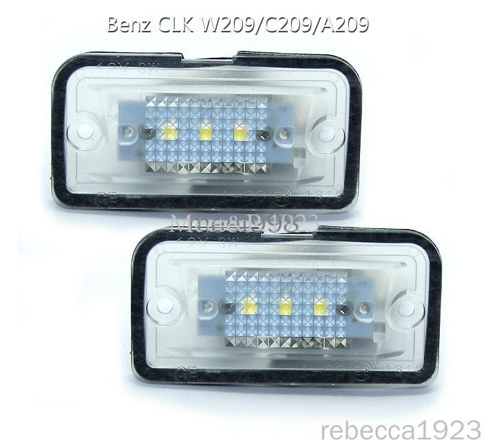 Lámparas de matrícula del coche LED para el Benz CLK W209 / número C209 / A209LED del precio de fábrica llevó la luz de la placa 12V 6000K