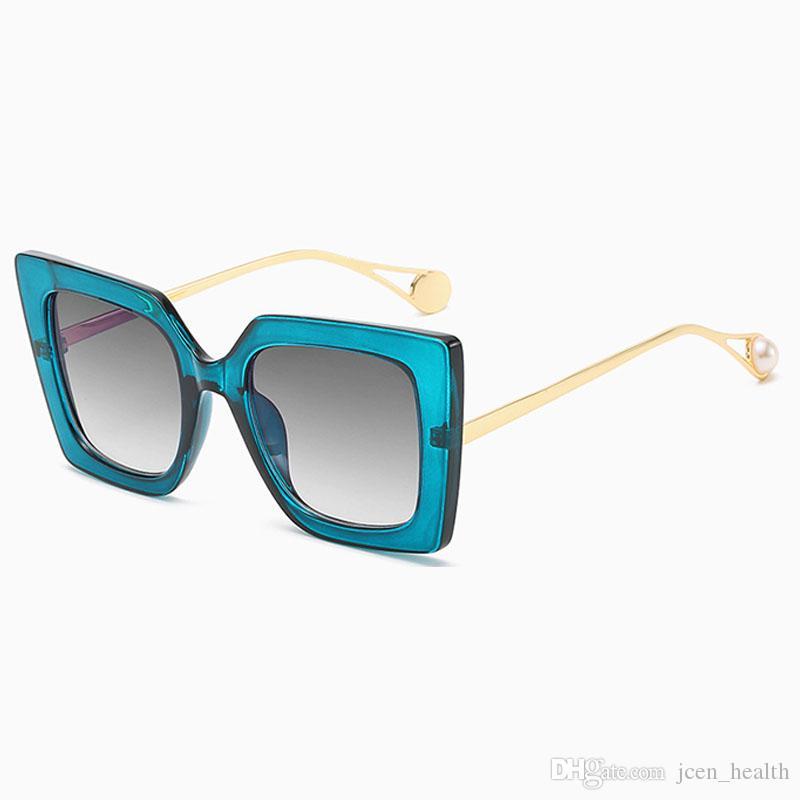 2020 مصمم جديد فاشون النساء الخضراء مربع إطار نظارات سيدة البلاستيك خمر الشمس الزجاج الرجعية في الهواء الطلق UV 400 دي سول موهير نظارات
