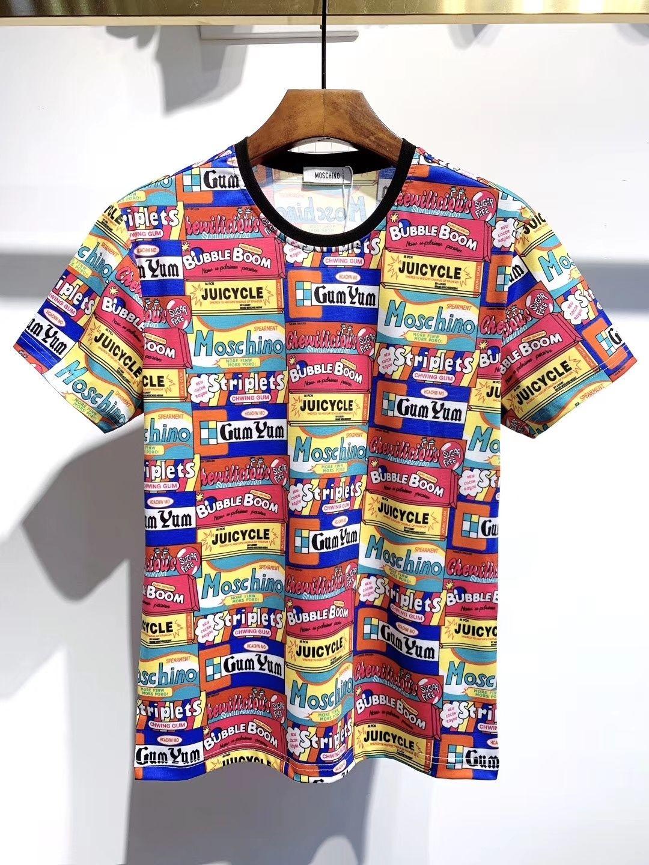 2020 Sommer der Männer neuer Trend atmungsaktiv T-Shirt Art und Weise gestreift Greg Druck T-Shirt für Männer clothing01