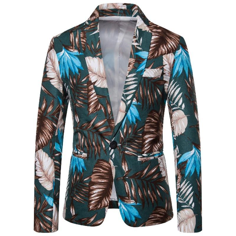 Mens Blazers Mens Designer Four Seasons Coat Casual Mens Outerwear with Single Breasted Fashion Floral Printed