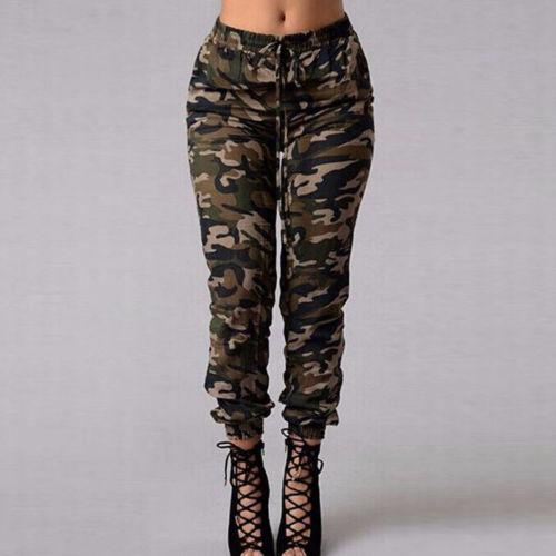 Womens Camo Cargo Trousers Casual Pants Army Combat Camouflage Pants Loose Jogger Trousers Women 2019 Sweatpants