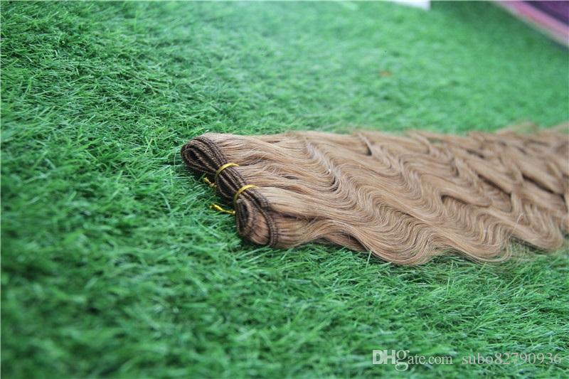 Fragola Biondi brasiliana capelli dell'onda del corpo di estensioni 100% dei capelli umani Weave Bundles 1pcs / 100g dei capelli del Virgin 8-30 inchs Bundles