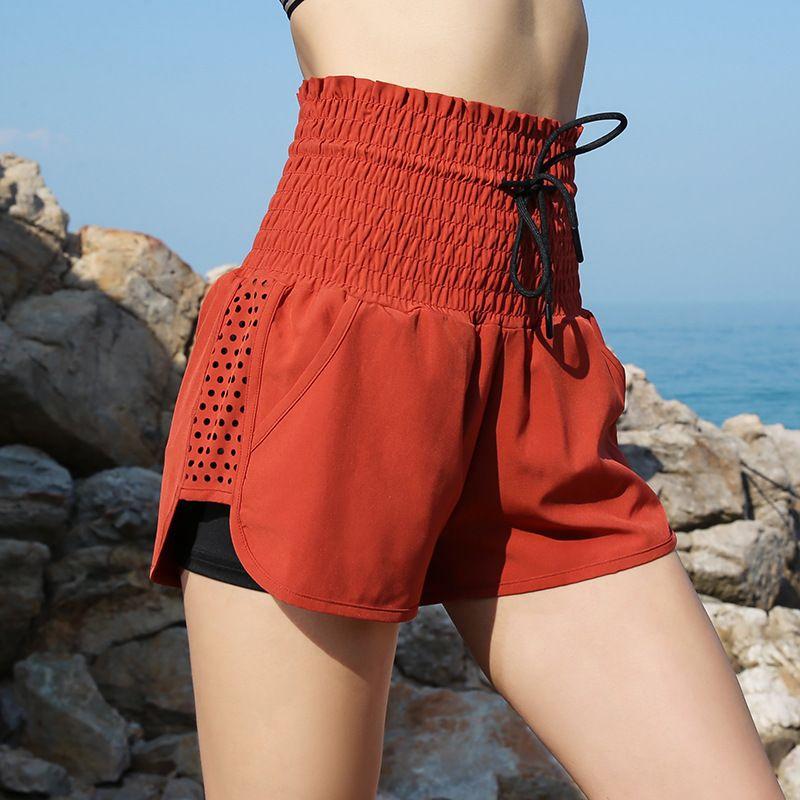 hip yoga mini shorts women clothes 2019 mini fem me plus size fashion elastic Running Holiday red female loose female dance