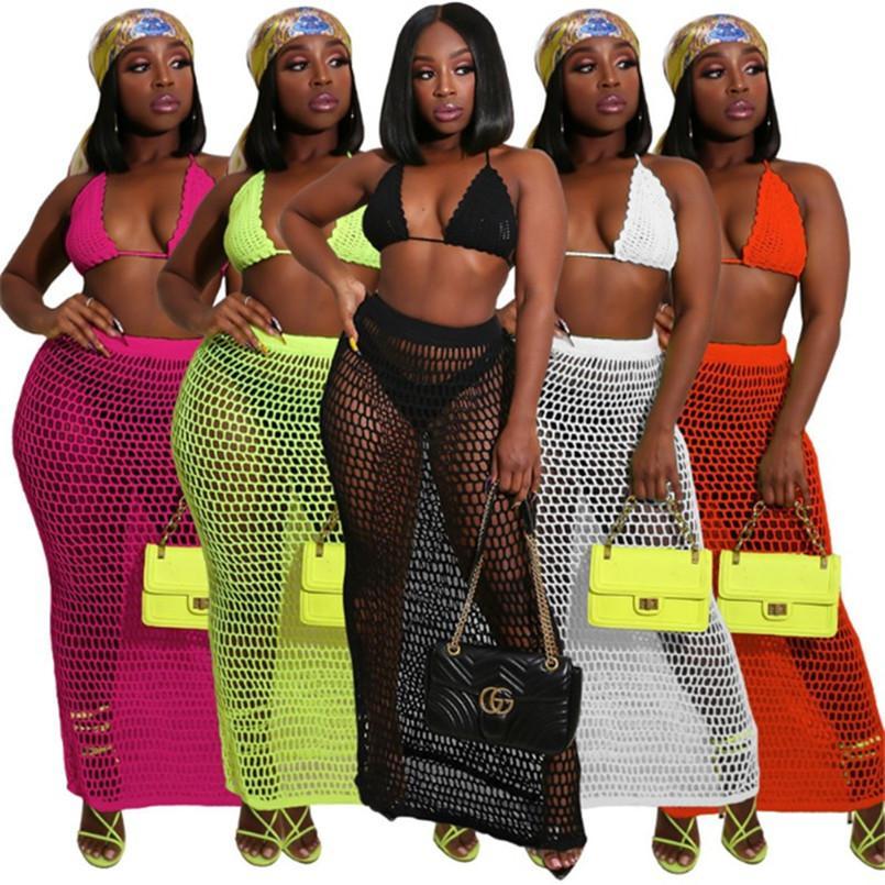 Mulheres Treino sportswear gallus Hoodie saia Duas peças conjunto de roupas Jogging Sports mangas ternos de vestido maxi moletom Clubwear hot3347