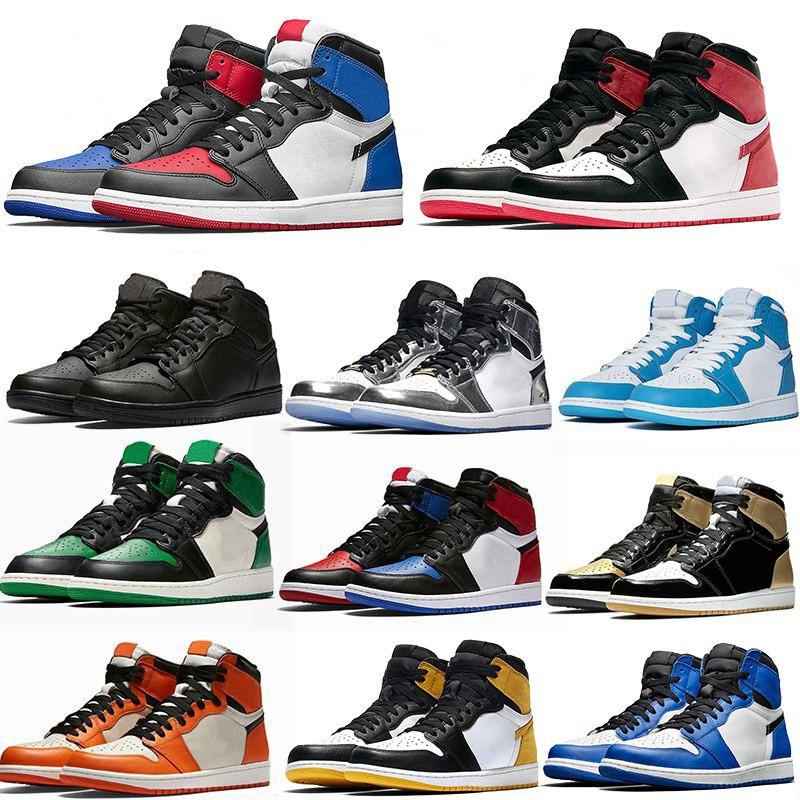 scarpe da basket caldo di trasporto di alta og Obsidian UNC Chicago Pine Turbo verde Travis Scotts Bloodline jumpman uomini donne lo sport sneaker