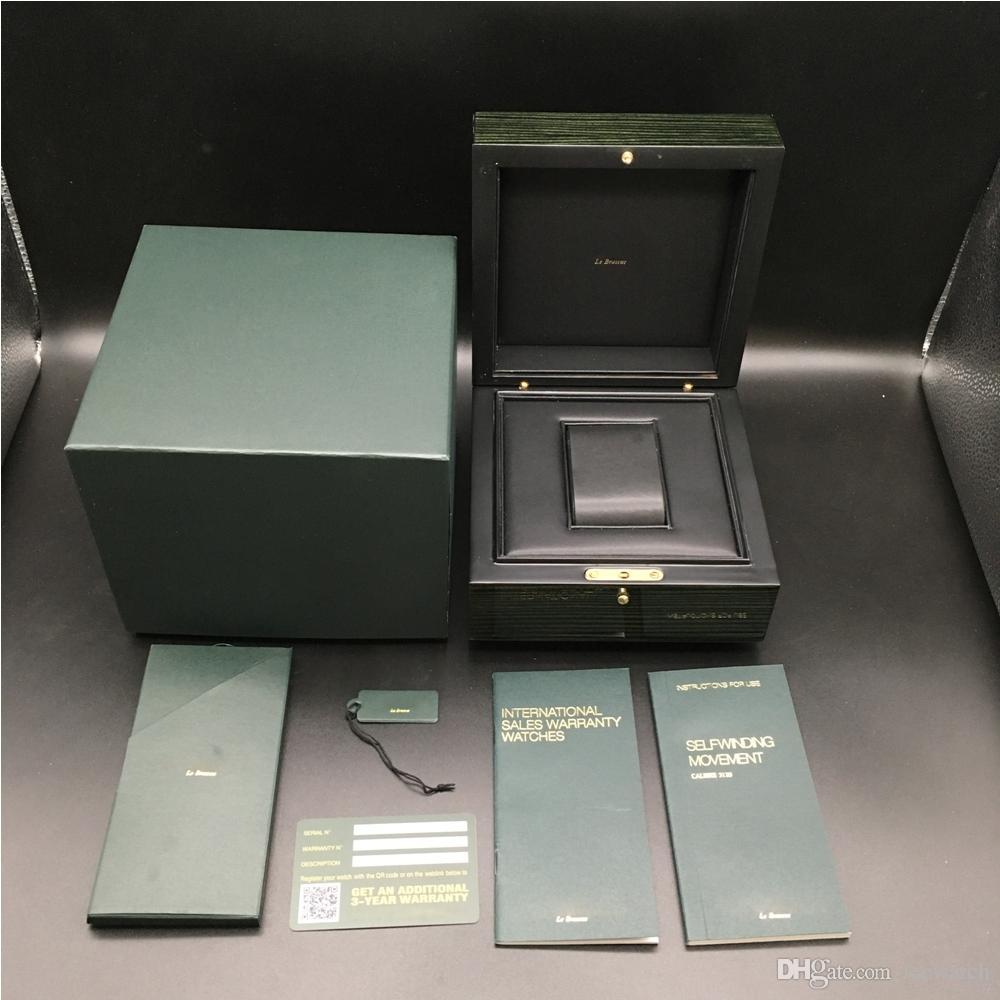 Stampa personalizzato modello di scheda numero di serie corretto documenti originali verde Woody contenitore di vigilanza per AP Scatole Libretti Orologi