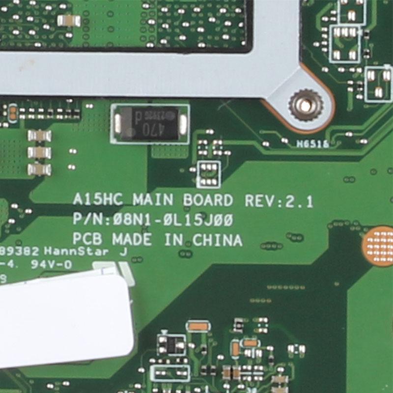 الأم للكمبيوتر محمول A15HC نظام REV2.1 اللوحة الأم اختبارها بشكل كامل