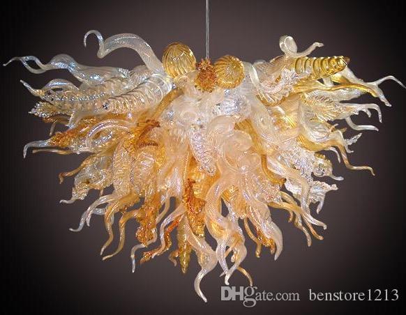 펜던트 램프 100 % 입 블로운 붕 규산 마노 유리 펜던트 라이트 아트 특수 조명 세련된 유럽 천장 램프