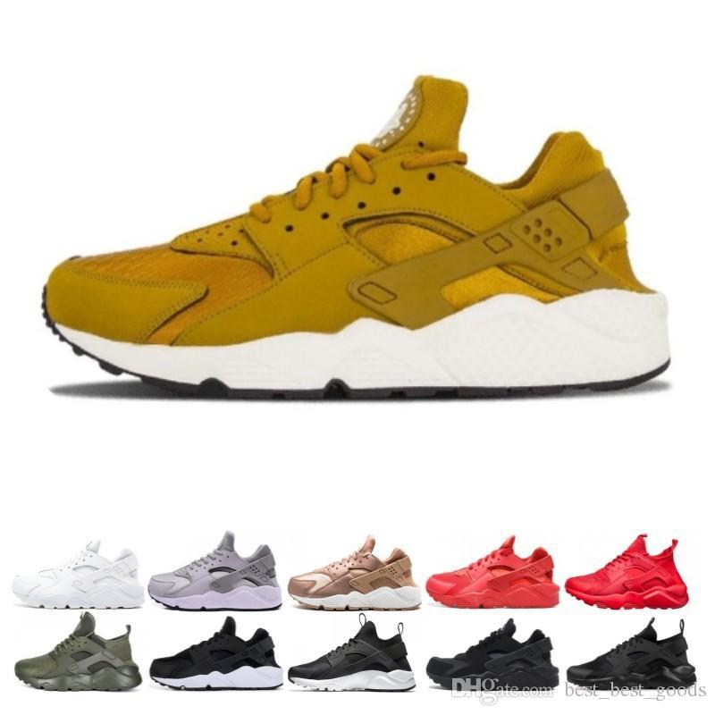 Großhandel Huarache 4 1 Laufschuhe Für Männer Frauen Weiß Schwarz Rot Turnschuhe Dreibettzimmer Trainer herren Sport designer Schuhe sneaker zapatos