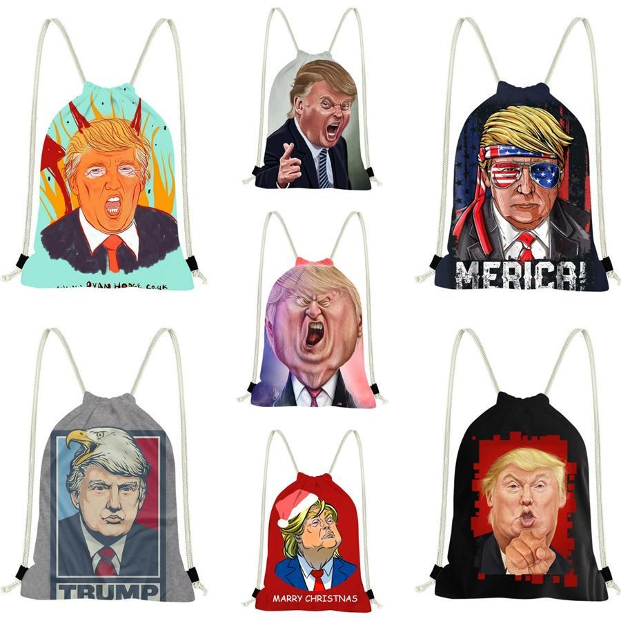Высокое Качество Рюкзак Кожаные Сумки Сумка Через Плечо Сумка-Мессенджер Trump Backpack Sac À Main #312