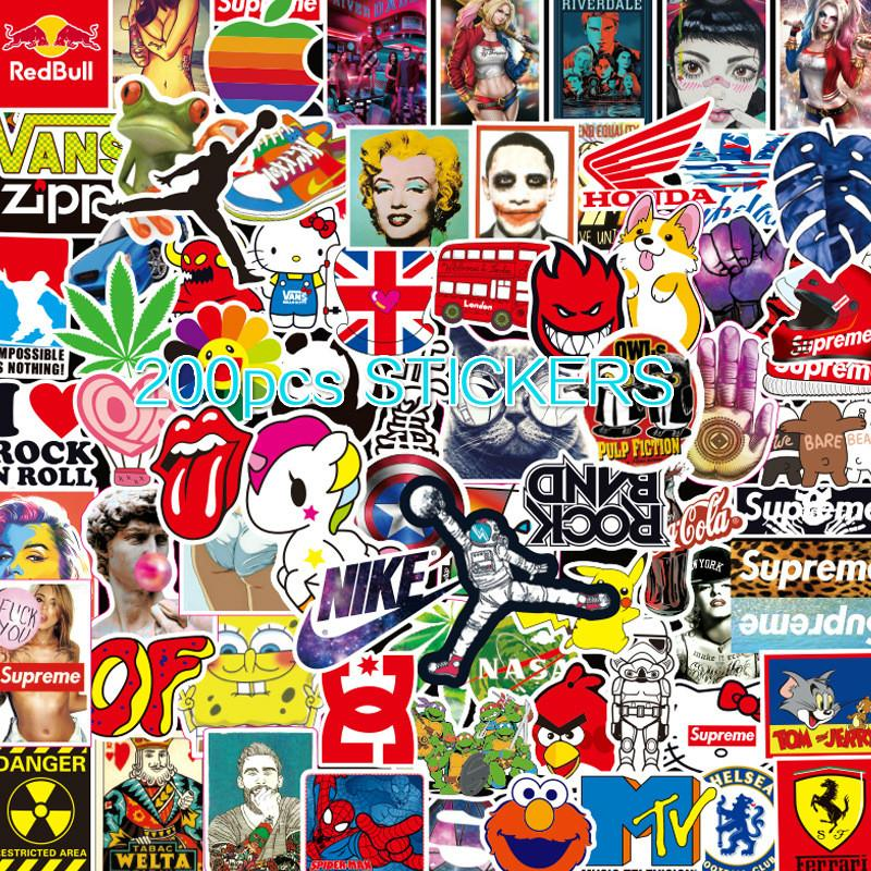 50Pcs Skateboard Sticker Bomb Vinyl Laptop Luggage Decals Dope Sticker Lot Cool