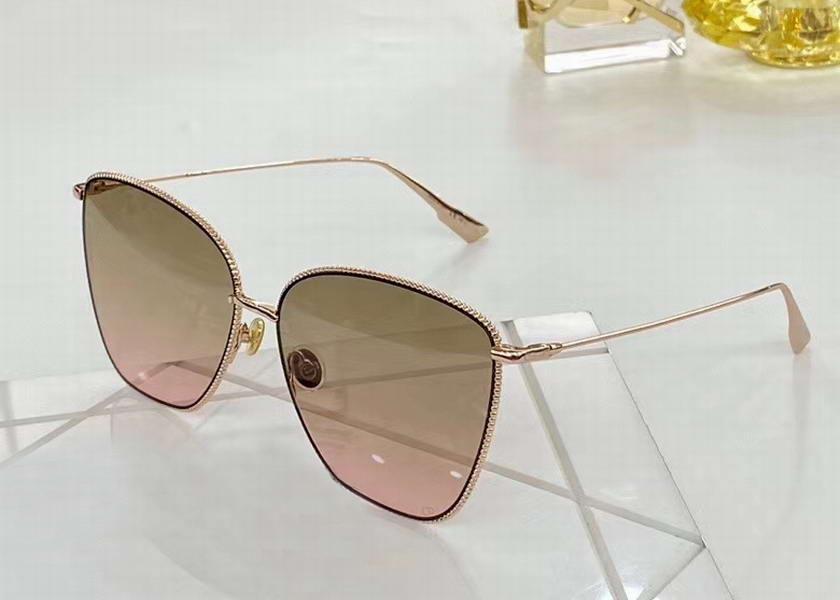 Женщины CatEye Солнцезащитные очки розовое золото / коричневый розовый затушеванный Оттенки Occhiali да подошву Gafas де золь ВС очки новый с коробкой